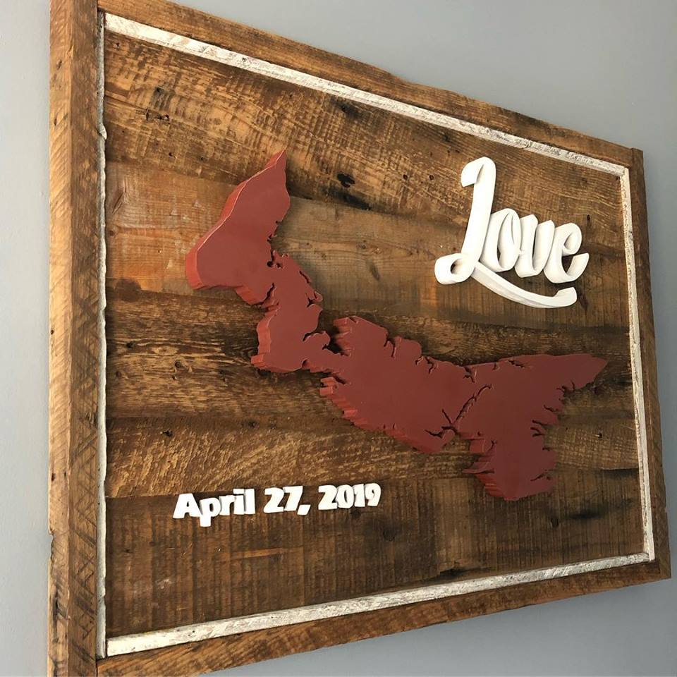 PEI Love wedding sign