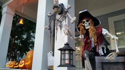 Pirate Halloween Leering Skeleton