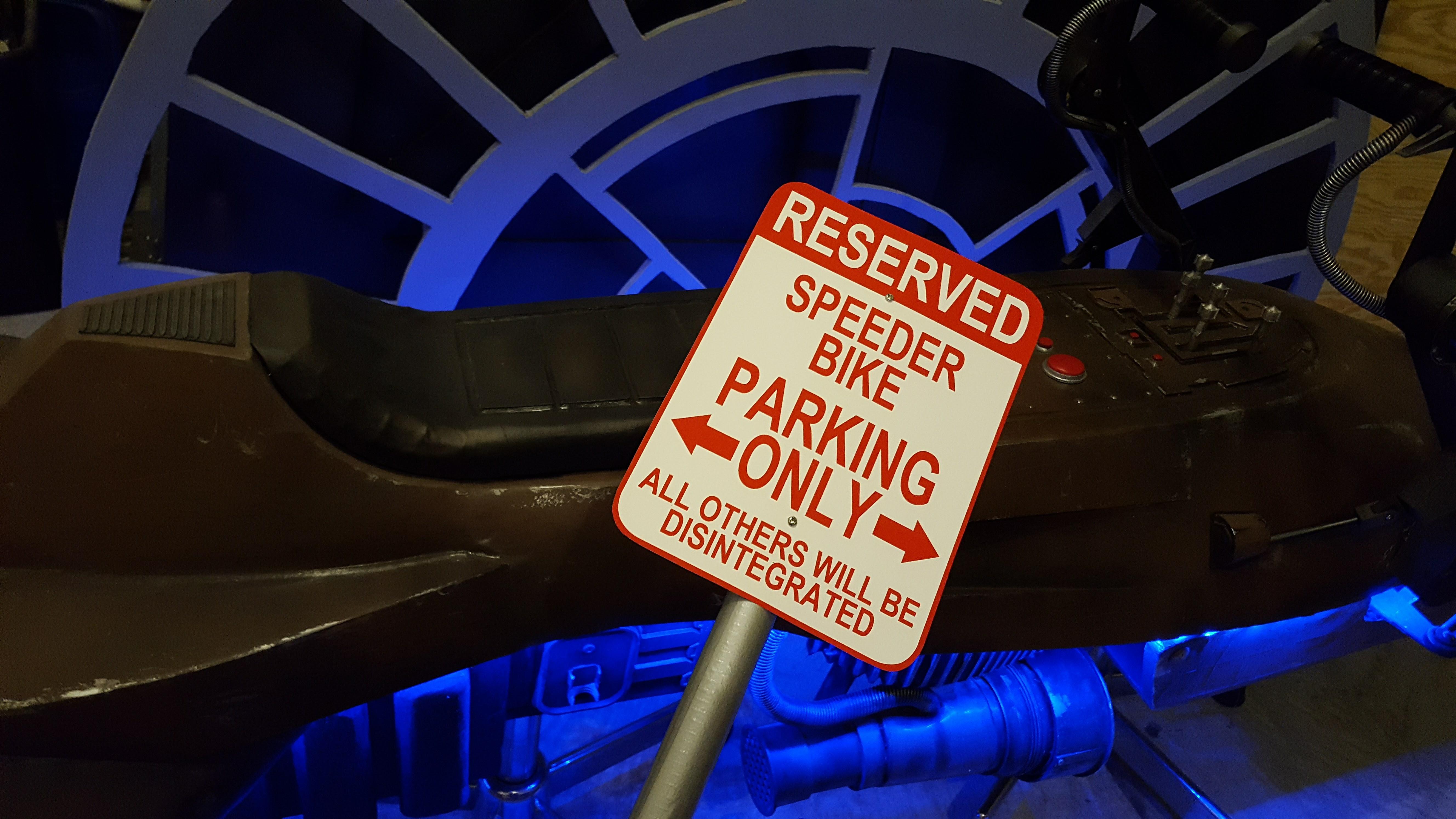 Star Wars Speeder Bike Parking Sign