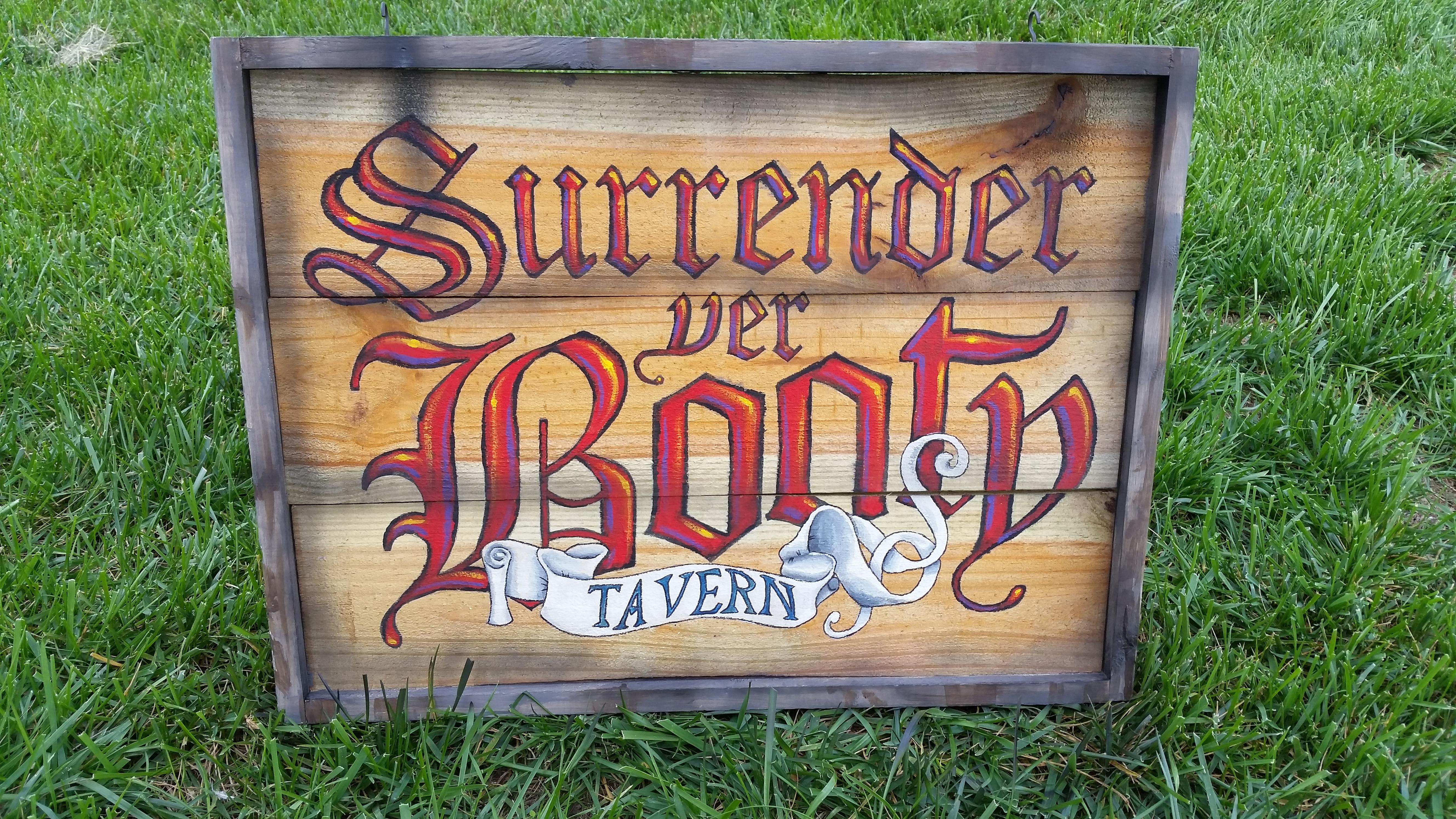 Pirate Halloween Tavern Sign