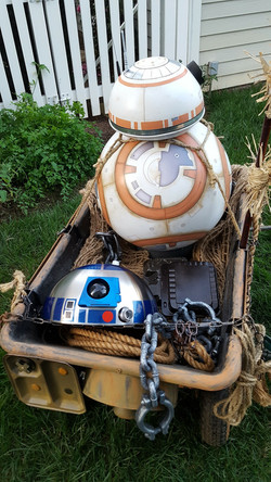 Star Wars R2D2 and BB-8 Droid Cart