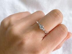 ②6本爪メレダイヤ付きリング加工