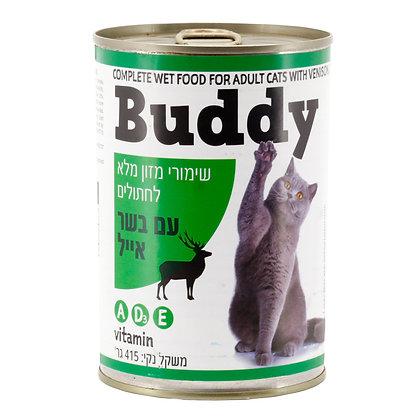 שימורי מזון מלא לחתולים עם בשר אייל