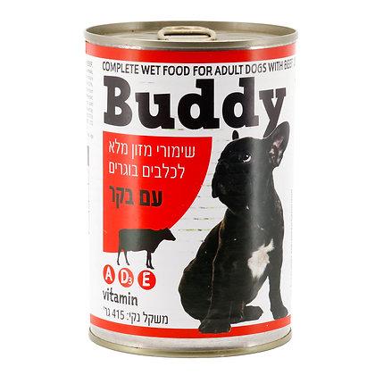 שימורי מזון מלא לכלבים בוגרים עם בקר