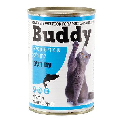 שימורי מזון מלא לחתולים עם דגים