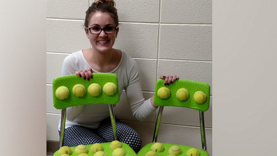 Teacher Designed Tennis Ball Chairs