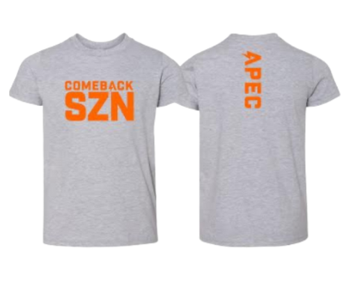 Comeback SZN Youth Tee - Tri Blend Grey