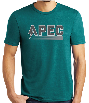 Retro APEC Tee - Grey/Teal