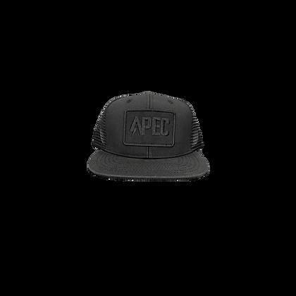 APEC Trucker Hat - Black and Black