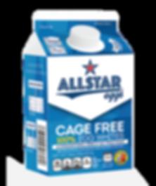 Allstar Eggs Cage Free 100% Egg Whites carton