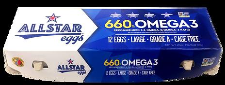 Allstar Eggs 660mg Omega 3 egg carton
