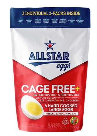 Allstar Eggs Cage Free Plus Hard Cooked Eggs package