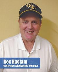 Rex Haslam - Customer Relations Manager