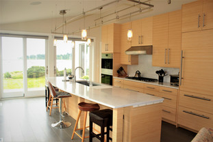 Contemporary kitchen by Patty Heath, Newcastle, NH.