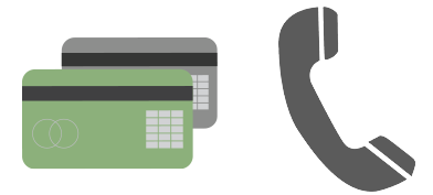 Pay on account or credit card