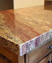 Granite slabs and countertops.