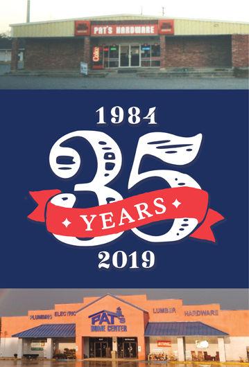 Pat's Home Center 35 years Anniversary logo