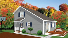 Bernard Building Center - 28x30 Salt Box House