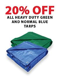 Heavy duty green and normal blue tarpstarps