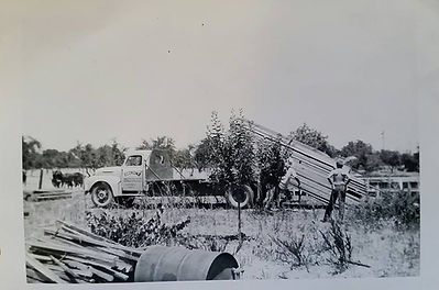 Economy Lumber delivery truck circa 1956 delivered wood for new house in Los gatos, ca