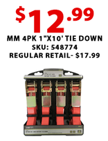 "MM 4pk 1""x10' Tie Down"