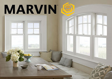 Image of Marvin windows with logo
