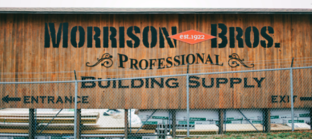 Image of Morrison Bros. Building Supply sign