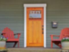 front door of home.
