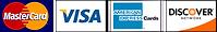 MasterCard, VISA, American Express & Discover credit cards