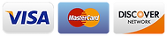 Credit Cards VISA, MasterCard, Discover