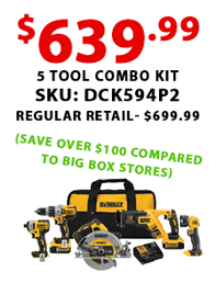 DeWalt 5 Tool Combo Kit