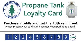 Concord Lumber Corp. - Propane Tank Loyalty Card