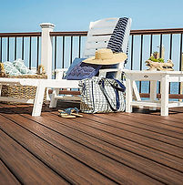Image of lounge chair on deck.