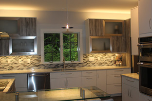 Contemporary kitchen designed by Patty Heath.