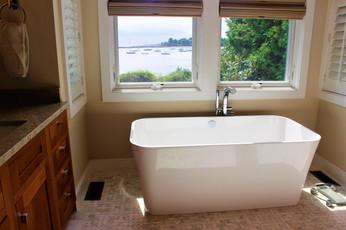 Master Bath designed by Patty Heath, Newcastle NH.