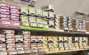 Image of fasteners on store shelves.