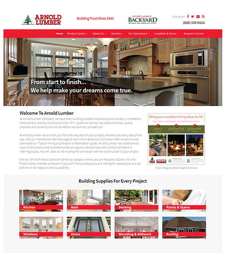 Arnold Lumber Website