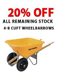 4-8 cu ft wheelbarrows