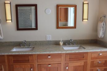 Master bathroom designed by Patty Heath, New Castle, NH.