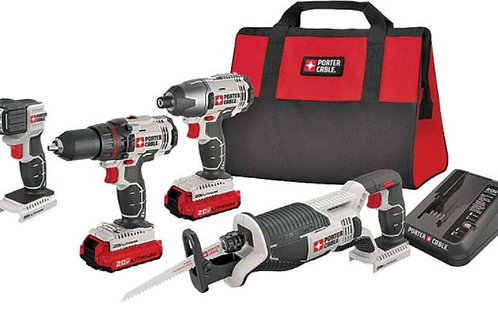 PORTER-CABLE Tool Combo Cordless 4PC 20V MAX