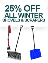 25% off all Winter shovels & scrappers