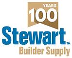 Stewart Builder Supply 100 years logo