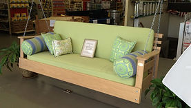 Image of porch swing in store