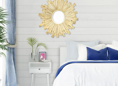 Rustic shiplap in bedroom