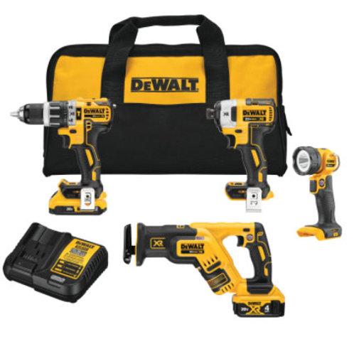 DEWALT 20V MAX* XR® Brushless  Cordless 4-Tool Combo Kit