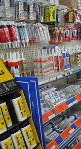 Image of sealants on store shelves
