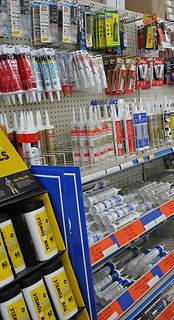 Image of sealants on store shelves