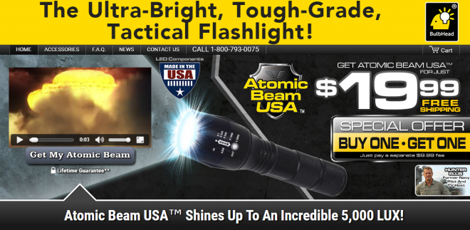 Atomic Beam USA Flashlight