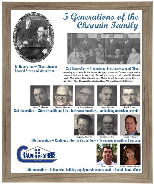 5 generations of the Chauvin family