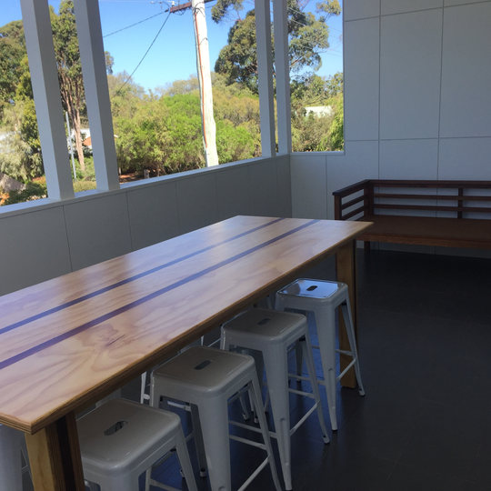 Custom Ply Jarrah Table